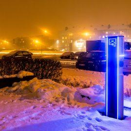 EV charging station city charge V2