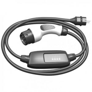 EV charging cable Type 2 to schuko with controlbox 16A