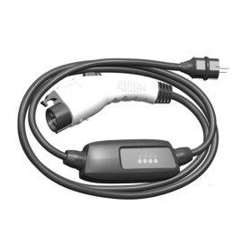 EV charging cable Type 1 to schuko with control box 16A