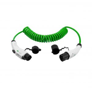 06-Spiral charging cable Type 1 to Type 2 16A