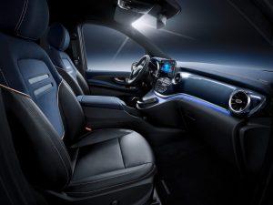 Mercedes Bens EQV long range concept interior