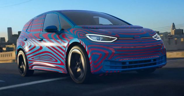 VW Electric ID Camouflaged Hatchback Leaked