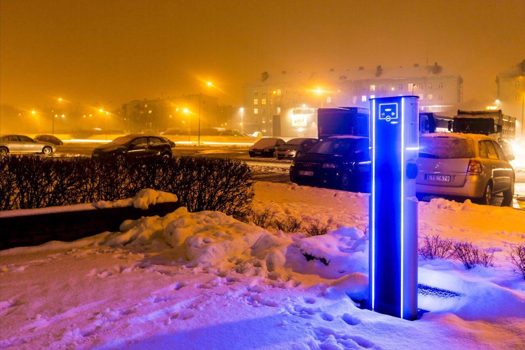 EV+ charging station Kaunas