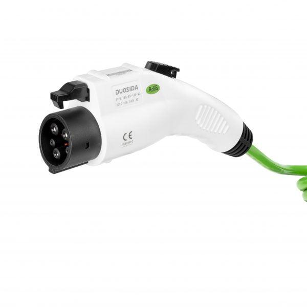 Type 1 female charging cable plug Duosida green