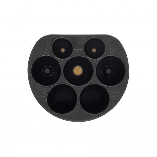 Type 2 male plug EV+